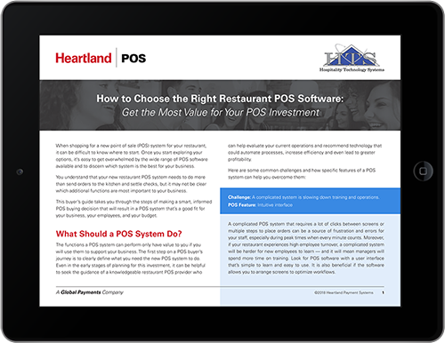 HTS Restaurant POS Software Buyers Guide